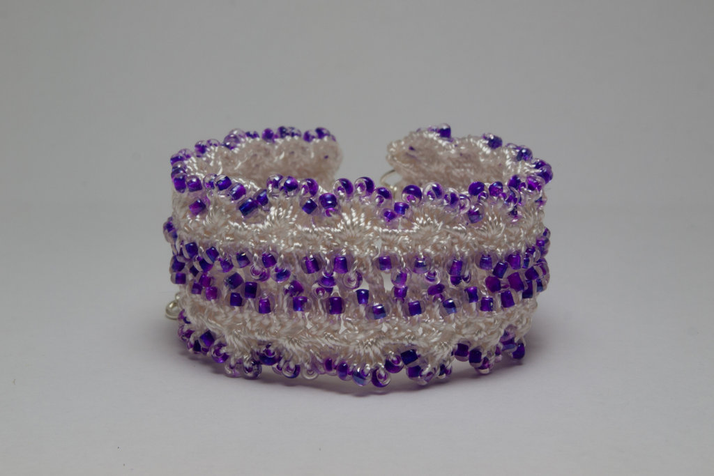 Purple Rocaille Cuff