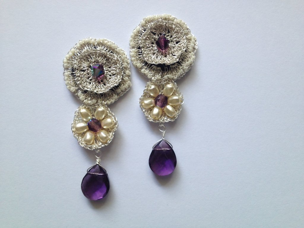 Francisca Amethyst Earrings