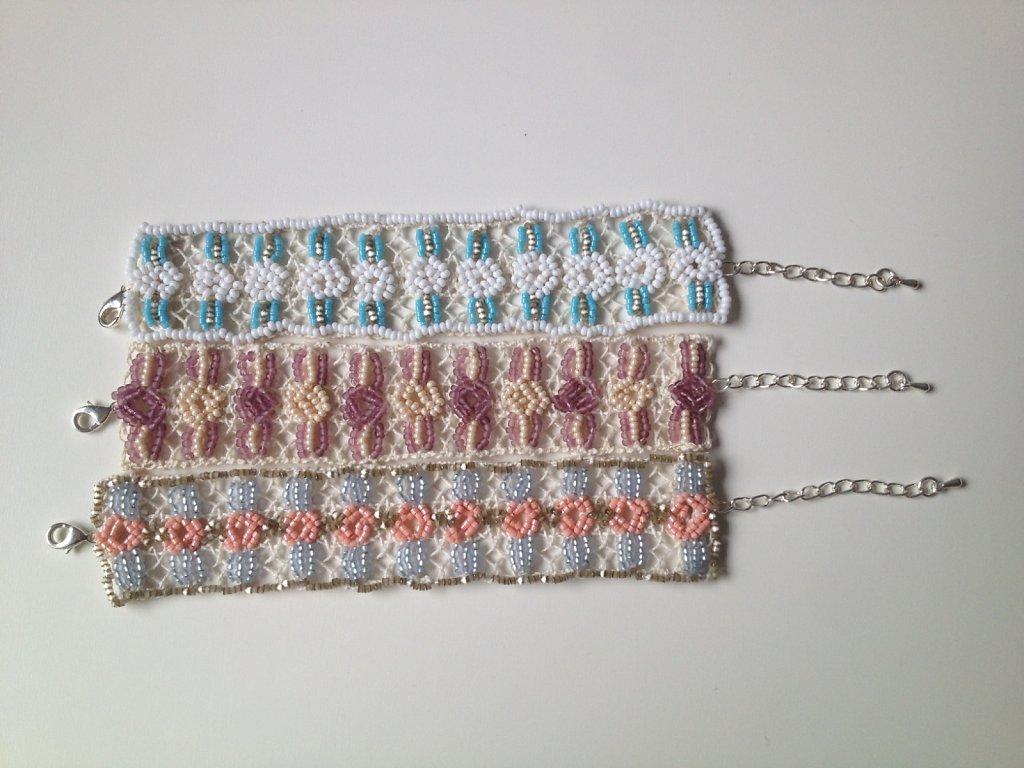 Vintage beaded lace bracelets
